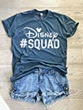 Disney Squad. Disney Team T Shirt. Hand Screen Printed with Eco Ink. Cool T Shirt. Gift Shirt. Unisex Fit. Crew-Neck Shirt.