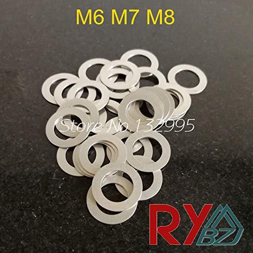 Ochoos Stainless Steel Flat Washer Ultrathin Gasket Thin Shim M6 M7 M8 - (Inner Diameter: 6x10x0.1)