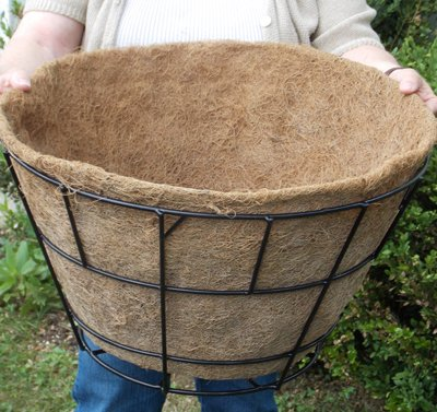 CS/5 - 20'' DOUBLE BASIC BASKET PLANTER LINER (NO HOLES)(only include liners) by KIS