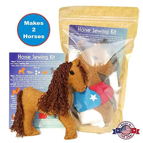 Wildflower Toys Horse Sewing Kit Kids - Felt Craft Kit Beginners ages 7+ - Makes 2 Felt Stuffed Horses by Wildflower Toys (Image #7)