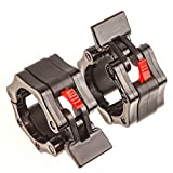 """Iron Lab - Olympic Barbell Collar - Pair of 2"""" Inch Pro ABS Locking - Set of 2 Black Clamps - Perfect for Pro Crossfit Strong Lifts and Olympic Training - Professional Quality"""