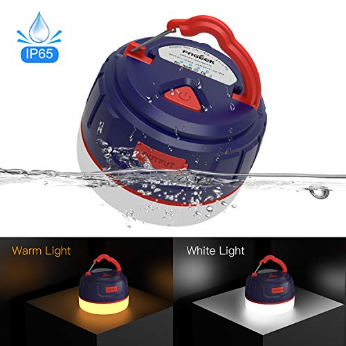 FOGEEK Led Camping Lantern Mini Portable Rechargeable Tent Light 5200mAh Power Bank Night Light Emergency Light Water Resistant /& Fireproof Magnet Base 5 Light Modes Best for Camping Hiking