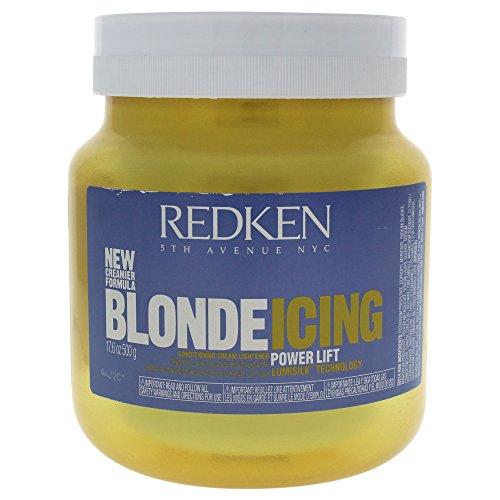 Redken Blonde Icing Powerlift Conditioning Cream Lightener for Unisex, 17.6 - Blonde Redken Icing