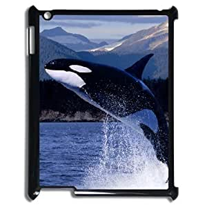 3D Cases For IPad 2,3,4 2D, Whale jump Cases For IPad 2,3,4 2D, Tyquin Black