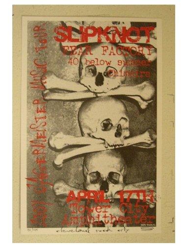 Poster Fear Factory - Slipknot Fear Factory Poster Handbill Slip Knot Skull