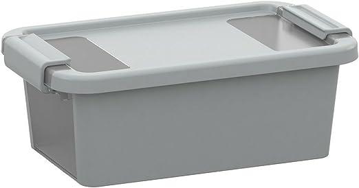 KIS 8451000 0594 01 Bi Box-Caja Organizador de plástico 3 L, Color Gris y Transparente: Amazon.es: Hogar