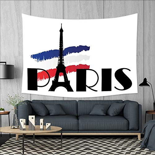 smallbeefly Doodle Customed Widened Tapestry Paris Typograph