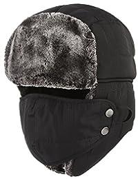Jelord Men Winter Faux Fur Trooper Trapper Hunting Hat Earflap Snow Ski Cap