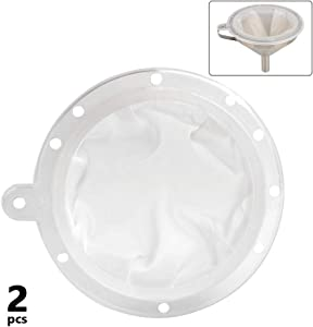 ATPWONZ Food Filter Jam Straining Set Strainer for 5 Inch Kitchen Funnel (200 Mesh +400 Mesh)