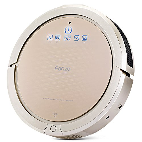 Fonzo Robotic Vacuum Cleaner Self-Charging Floor Cleaning Robot with Wet/Dry Mop,With LED Display Charging Base Scheduling Cleaning