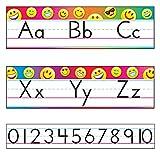 Trend Enterprises, Inc. T-8288 Emoji Alphabet Line Standard Manuscript Bulletin Board Set