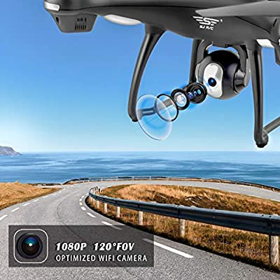 GPS Drone with Camera Live Video 1080P HD FPV RC Quadcopter Drones with Camera Follow Me Mode, Altitude Hold, Long Range Control, GPS Auto Return Home