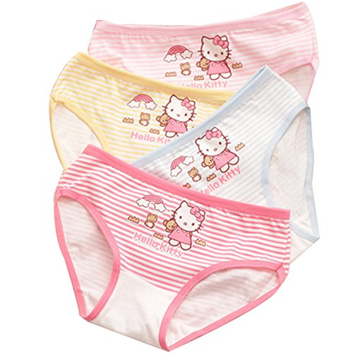Aliyaer Girls Underwear toddler Cotton Panties cute Briefs 4pack (2-4T, 1070)