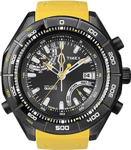Timex T2N730D7 - Reloj analógico de cuarzo para hombre con correa de resina, color amarillo