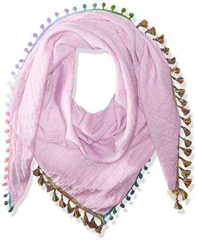 - Steve Madden Women's Catalunya Tassel and Pompom Scarf, Pink One Size