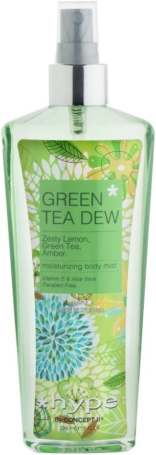 hype Green Tea Dew Body Mist, Green Tea