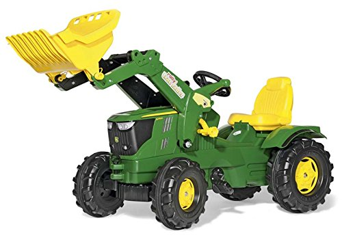 rolly toys John Deere Farmtrac Pedal Tractor with Working Front Loader and Additional Hitches, Youth Ages 3+ by Rolly