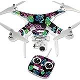 MightySkins Protective Vinyl Skin Decal for DJI Phantom 3 Standard Quadcopter Drone wrap cover sticker skins Neon Tropics