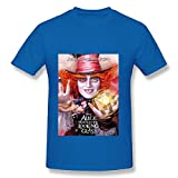 RoyalBlue T Shirt For Men 2016 Alice Through The Looking Glass Mad Hatter Poster