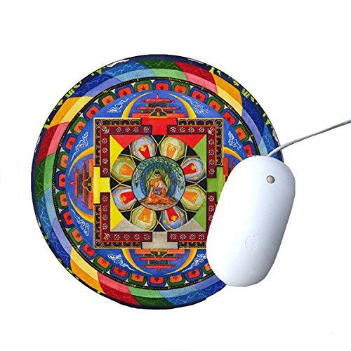 Buddha Mandala - Round - Mouse Buddha Pad