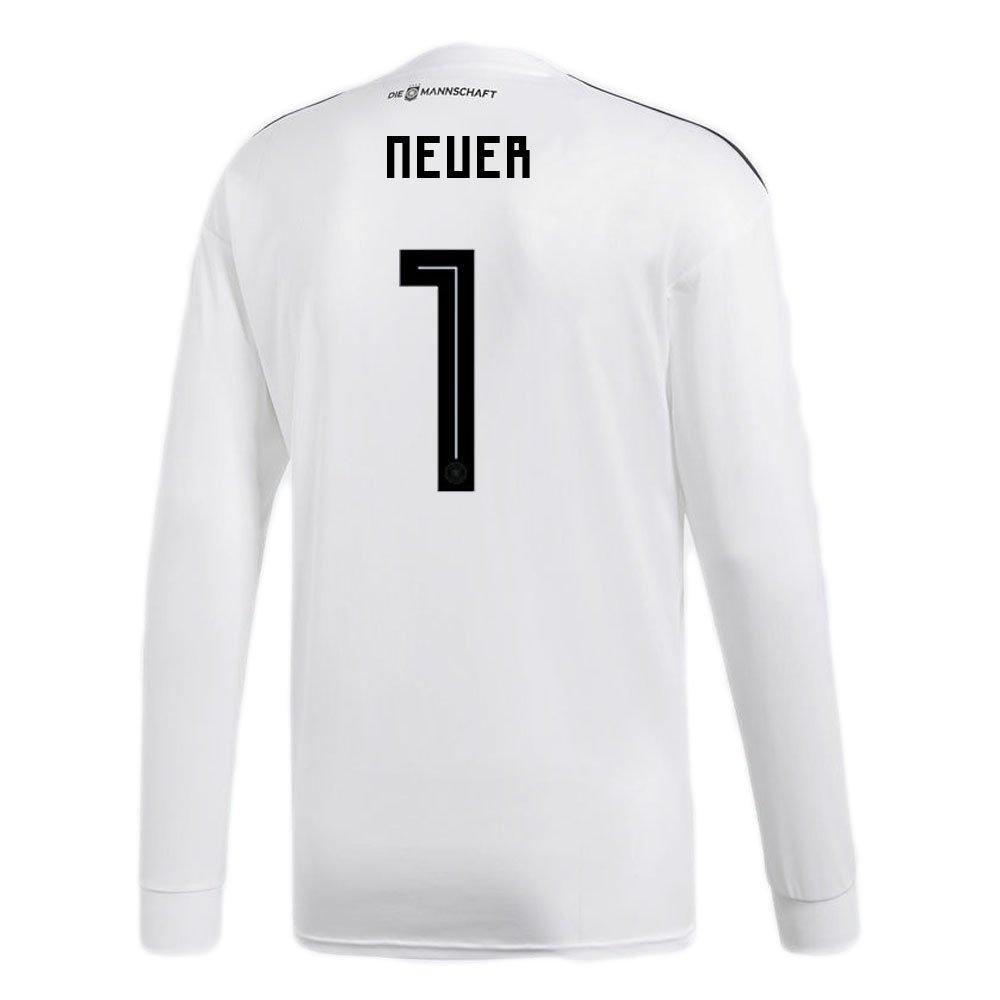 adidas NEUER # 1 Germany Home Soccer Long Sleeve Stadium Jersey World Cup Russia 2018/サッカーユニフォーム ドイツ ホーム用 ノイアー # 1 長袖  US Large