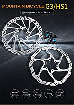 Pathpark Disc Brake 160mm//180mm Stainless Steel 6 Bolts Bicycle Disc Brake Rotor G3//HS1 High Cooling Hollow Design Disc Rotor for Mountain Bicycle