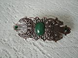 Triple Moon Barrette, handmade jewelry, wiccan, pagan, wicca, witch, witchcraft, goddess, metaphysical, magic, handfasting, gothic