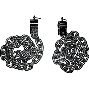 Valor Fitness LC 53 Steel Weight Lifting Chains, 53 Pound