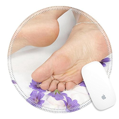 Luxlady Round Gaming Mousepad Woman feet and legs isolated over white IMAGE ID 8293772 (Foot Rejuvenation)