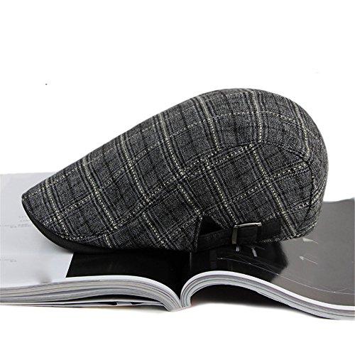 plaid hat Moda Boina beanie hat delgada hombre avance beret gris Halloween sombreros Grey Navidad mujer MASTER Plaid qPwBn
