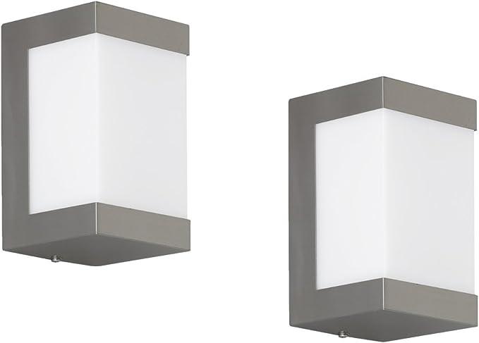 12 W LED Lampada Muro Lampada esterno giardino in acciaio inox ip44 in basso sopra illuminazione