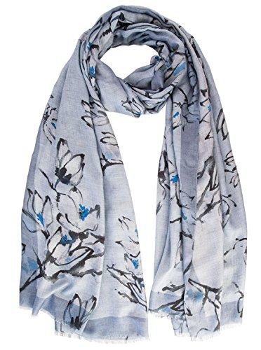 Elizabetta Womens Modal Cashmere Scarf Wrap Shawl, Made in Italy (Blue) by Elizabetta