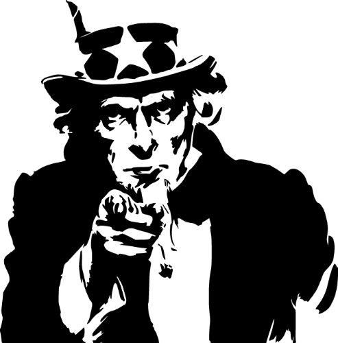 Cheap  Uncle Sam Pointing Wall Decal Sticker - US Army Decoration Mural -..