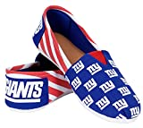 Womens NFL Canvas Slip-On Shoes, York Giants-medium