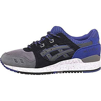 7ba0d56a6106 Mens Asics Tiger Gel Lyte III High Voltage Pack Trainers Black Purple Guys  Gents (