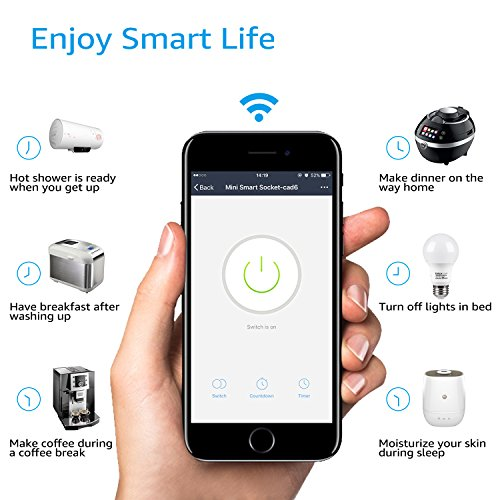 Wi-Fi Smart Plug, Mini Outlets work with Alexa, Voice APP Remote Control Socket from Anywhere with Timer Function, No Hub Required, 6 Pack by TORCHSTAR (Image #5)