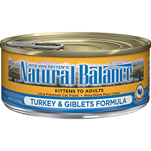 Natural Balance Turkey & Giblets Formula Wet Cat Food, 5.5-Ounce Can (Pack Of 24)