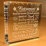 Retirement Gifts | For Women | Men | Retiring | Retire | 2020 | DAD | Her | Friends | Grandpa | Coworker | BOSS | Keepsake | Paperweight