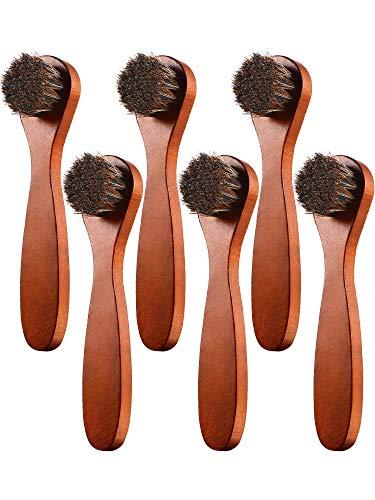 Youngjoy 6 Pieces Horsehair Shine Shoes Brush kit Polish Dauber Applicators ()