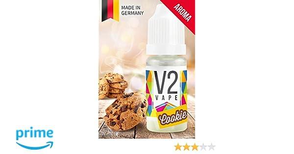 V2 Vape Cookie Biscuit Concentrado de Alta Dosis Sabor a Alimentos Premium 10ml 0mg Nicotine Free: Amazon.es: Alimentación y bebidas