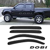 07 tacoma sun visor - VioletLisa 4pcs Smoke Tint Out-Channel Reinforced Acrylic Sun Rain Guard Vent Shade Window Visors For 05-15 Toyota Tacoma Double/Crew Cab w/ four full size doors