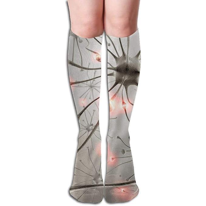 dadd12c27 Amazon.com  JTNF Unisex Neuron Poster Long Comfortable Socks Knee High  Novelty Sock  Clothing