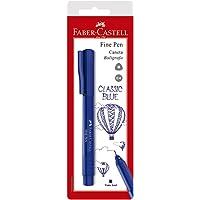 Caneta Fine Pen, Faber-Castell, SM/FPBAZZF, Azul