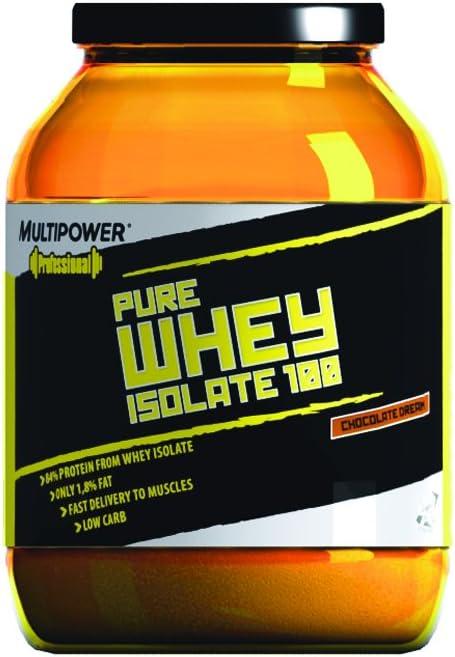 Multipower - Proteína de whey isolada chocolate, 908g: Amazon ...