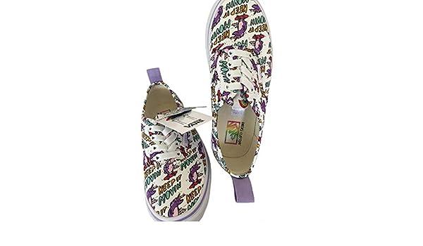 Dallas Clayton Authentic Elastic Skateboarding Unicorn Shoes Size Kids 1.5 White