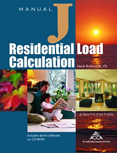 manual j residential load calculation 8th edition full hank rh amazon com free acca manual j residential load calculation Manual J Books