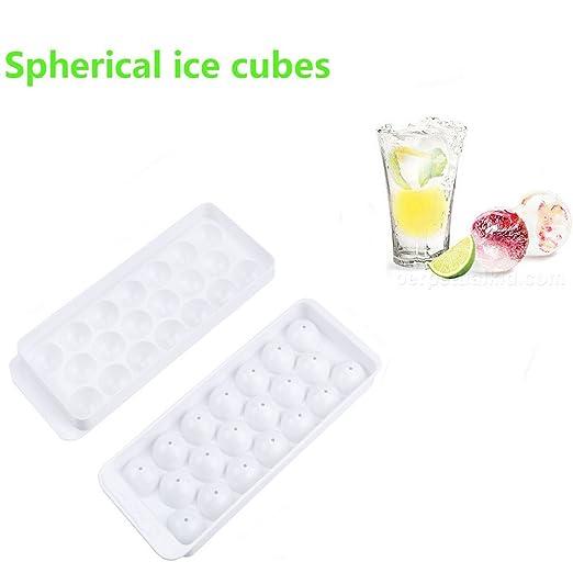 Bandeja para cubitos de hielo Indexp, 20 moldes grandes hechos en ...