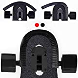 Skateboard Deck Guards Protector,Longboard Deck Edge Protection,Durable Shock Absorbing Rubber Cover with Excellent Longboard Nose Guard and Tail Guard for Kids, Boys, Girls, Youths, Beginners (Black)