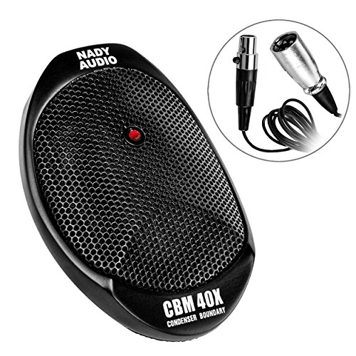 (Nady CBM-40X Condenser Boundary Microphone – Full frequency response for recording performances, interviews, courtroom proceedings, meetings & conferences.)