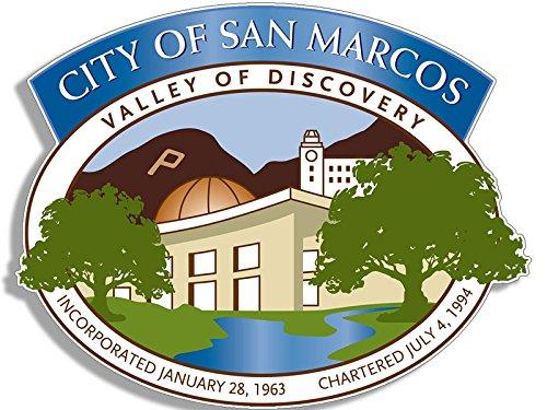 American Vinyl City of SAN Marcos Seal Sticker (California ca Logo) -